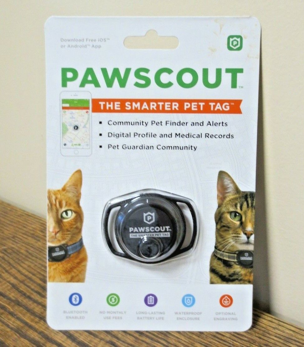 New PAWSCOUT The Smarter Pet Tag IOS/Android Free App Pet Finder CAT 0501  - $9.99