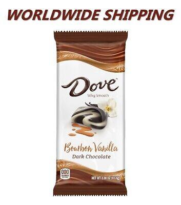 Dove Bourbon Vanilla Dark Chocolate Candy Bar 3.30 Oz WORLDWIDE SHIPPING Chocolate Vanilla Candy Bar