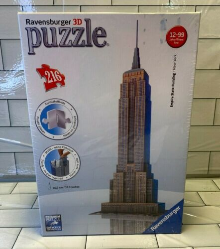 Ravensburger 3D 125531 Empire State Building New York Puzzle NY 216 pc 2012 New