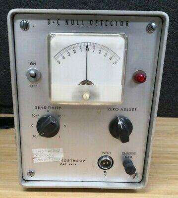 Leeds Northrup 9834 Dc Null Detector Electrical Test Unit Analog Panel Meter
