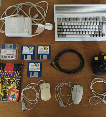 COMMODORE Amiga A600 Vintage Computer with 1mb Upgrade (Working) Loads Of Games!
