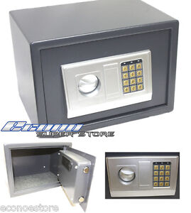 digital electronic safe lockbox gun jewelry lock box key. Black Bedroom Furniture Sets. Home Design Ideas