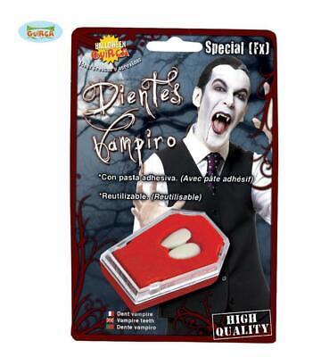 denti Canini vampiro con pasta adesiva travestimenti halloween carnevale