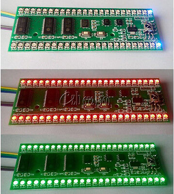 Rgb Mcu Adjustable Display Pattern 24 Led Vu Level Indicator Meter Dual Channel