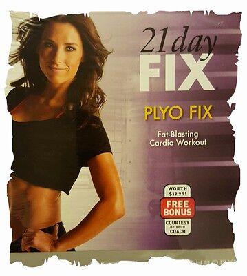 21 Day Fix Plyo Beachbody Fat Blasting Cardio Workout Dvd W  Autumn   New Sealed