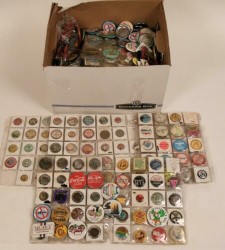 500+ Vintage Pin Collection Political Endorsements Advertising Button Pinback