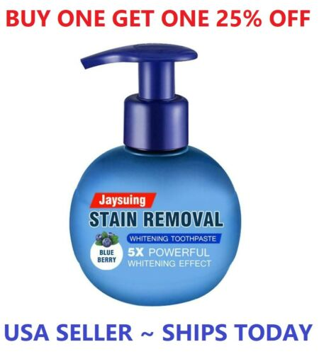 Intensive Stain Removal Teeth Whitening Toothpaste Fight Bleeding Gums Blueberry
