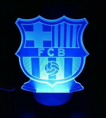 Barça Lampara Led Luz Futbol Barcelona Color Electricidad Deportes Colección