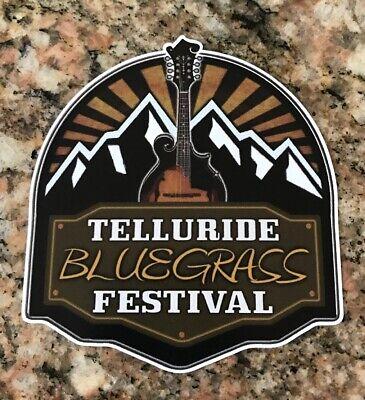 Telluride Bluegrass Festival Sticker - Music Festival Colorado Country Jam Fest