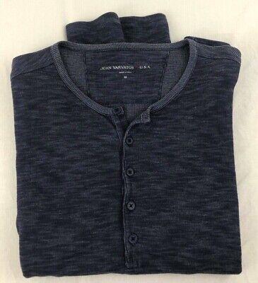 John Varvatos USA Sz. Medium Long Sleeve Thermal Henley Shirt!