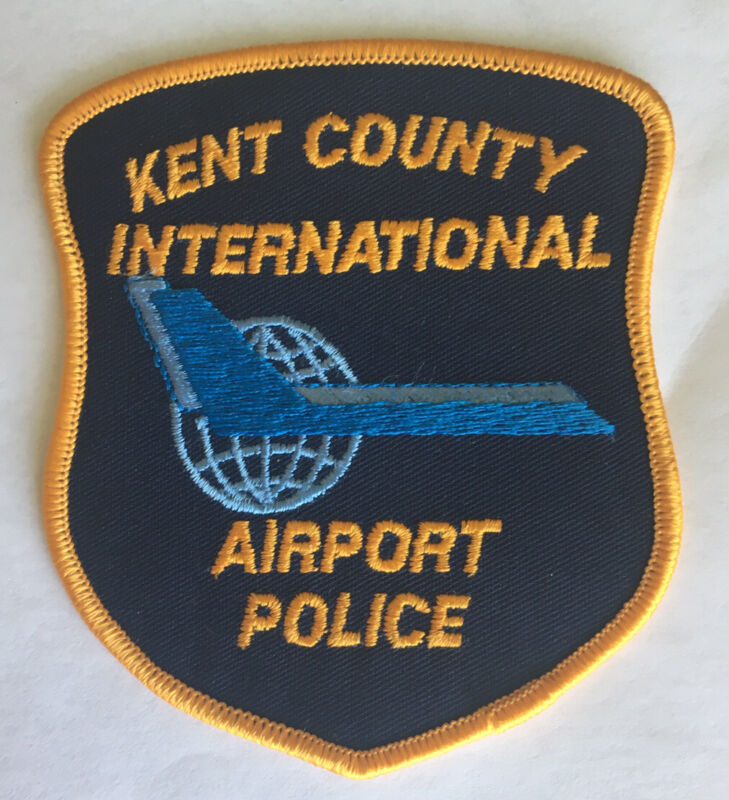 OLD MICHIGAN KENT COUNTY INTERNATIONAL AIRPORT POLICE PATCH UNUSED