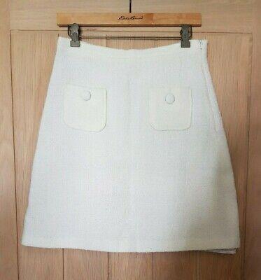 J & M Davidson size 8-10 cream / beige lined A line skirt