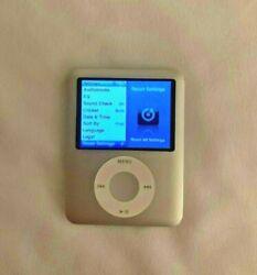 Apple iPod Nano 4GB and Memorex Mi4004-Alarm Clock AM/FM Radio w/ Remote - USED