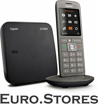 Gigaset CL660 Cordless House Phone DECT / GAP Anthracite Dis