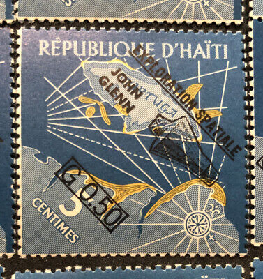 36 vintage Republic of Haiti Space Stamps - John Glenn Mint Never Hinged #19