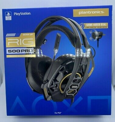 Plantronics RIG 500 PRO HS Wired Gaming Headset for PLAYSTAION ***NEW IN BOX***
