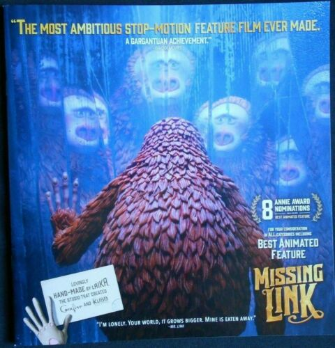 Missing Link - Best Animated Feature Pressbook - Chris Butler Director