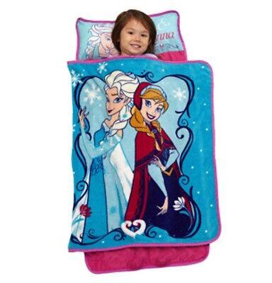 NEW Disney FROZEN NAP MAT Blanket+Pillow Preschool Daycare T
