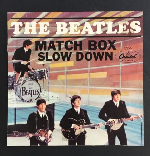1964 The Beatles Match Box Slow Down Record Sleeve Cover From Original 45 RPM