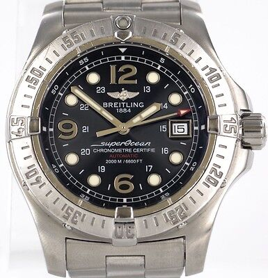 Breitling Superocean Steelfish A17390 Stainless Steel 44mm Wrist Watch