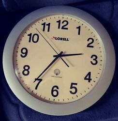 Lorell Radio Controlled Wall Clock Stainless Steel 12 Diameter Battery-operated