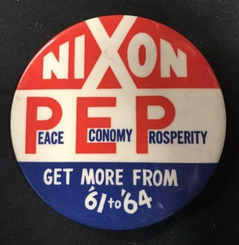 "Richard Nixon PEP 1960 Political Campaign Pinback Button 3"" - JH746"