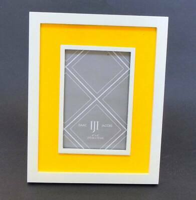 Photo Frame Sunny Bright Lemon Yellow And White by Isaac Jacobs For 4x6 Picture Bright Yellow Picture Frame