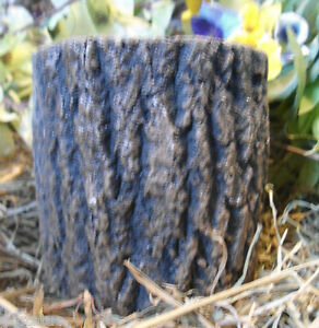 Latex log pedestal mold concrete plaster tree bark garden casting mould