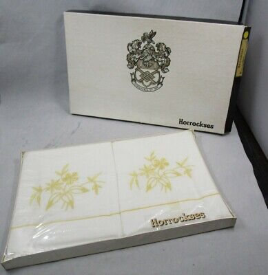 Vintage Horrockses cotton pillow cases in original box