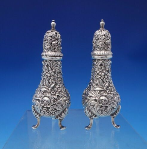 Repousse by Kirk Sterling Silver Salt and Pepper Shaker Set 2pc #58 (#5264)