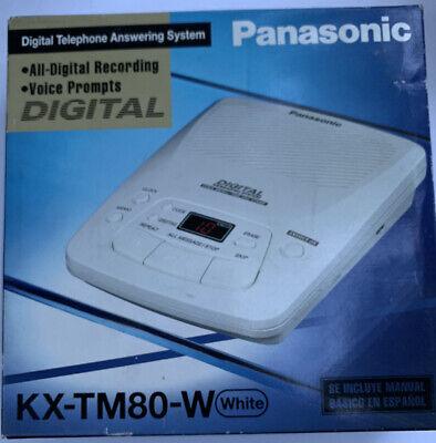 PANASONIC Digital Telephone Answering Machine KX-TM80-W White New Vintage