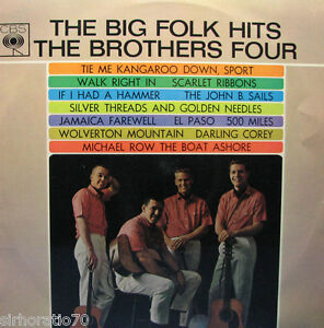 The-BROTHERS-FOUR-The-Big-Folk-Hits-LP-MONO-1960s