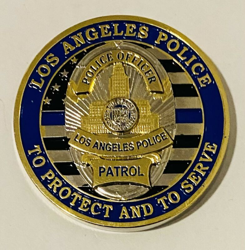 Sought After-Unique-Los Angeles Police-Patrol-Police Challenge Coin