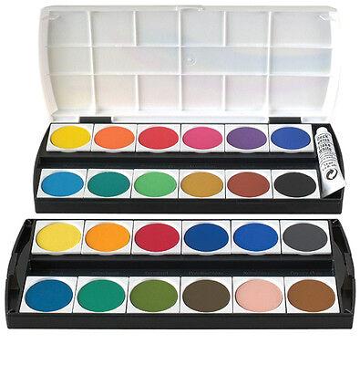 Geha Malkasten 24er Deckfarbkasten Farbkasten 24 Farben