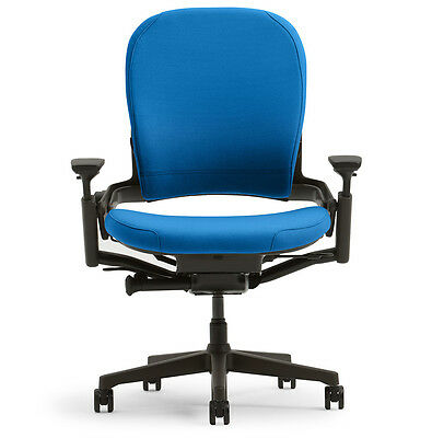New Large Steelcase Leap Plus Adjustable Desk Chair - Buzz2 Blue Fabric 500 Lb