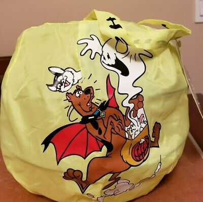 Halloween Treat Bag Tags (Scooby Doo Bag Halloween Treat collapsible candy basket tote New Tags)