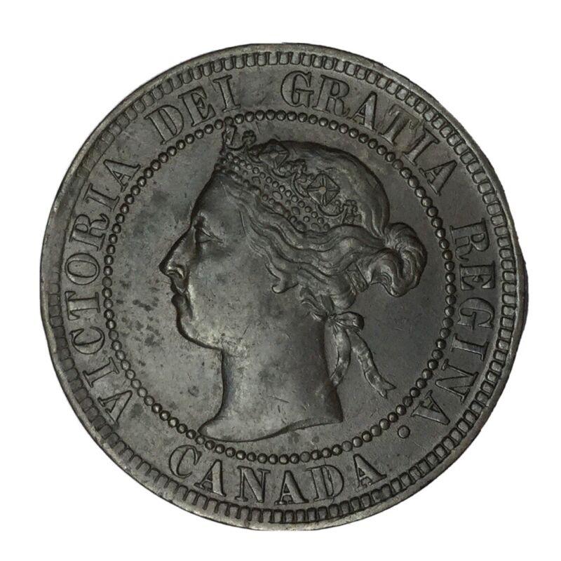 1897 Canada Victoria 1 Cent AU #