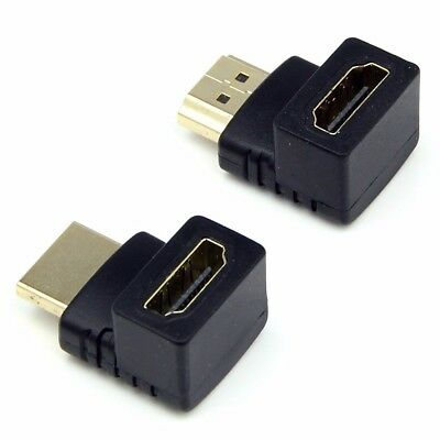 90 & 270 Degree Right Angle HDMI Male to Female Adapter for Samsung LG Sony TV