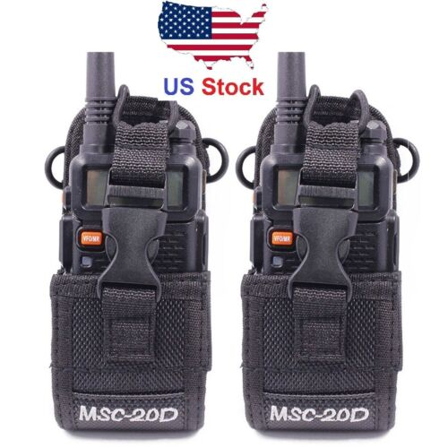 2Pack MSC-20D Nylon Pouch Bag Holster Carry Case for Baofeng Walkie Talkie Radio