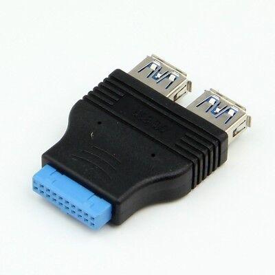 USB 3.0 Motherboard Header 20 Pin to 2 USB A Port Socket USB Female Adapter Hub comprar usado  Enviando para Brazil