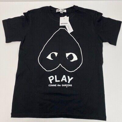 Play Comme Des Garçons Women's Short Sleeve T-Shirt Black Size M #38B