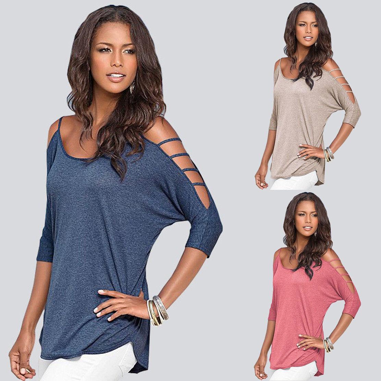 Fashion Womens Long Sleeve Shirt Casual Blouse Loose Cotton Tops Sweater Shirt