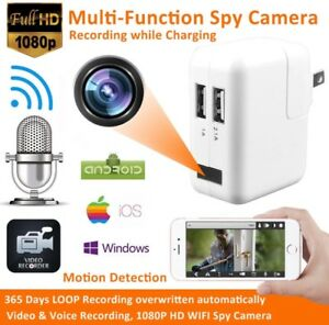 Hidden Spy Camera USB Wall Charger Mini 1080P HD WIFI Camera Charger Hallam Casey Area Preview