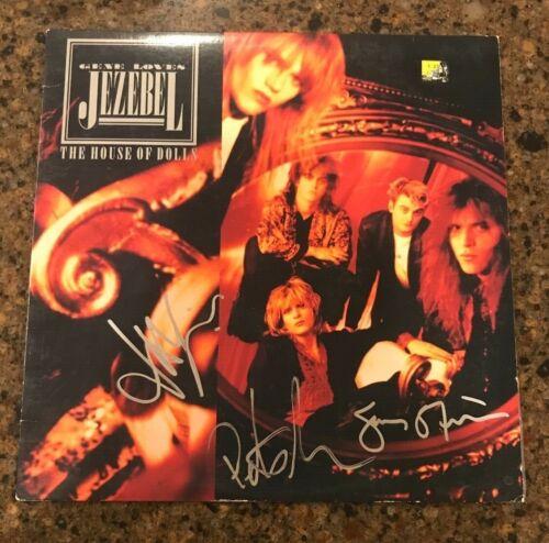 * GENE LOVES JEZEBEL * signed vinyl album * THE HOUSE OF DOLLS * JAY ASTON * 2