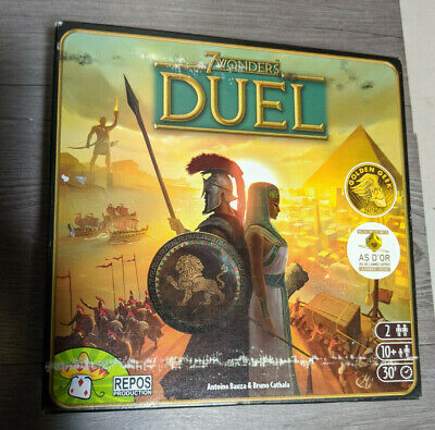 7 WONDERS DUEL Award Winning 2 Player Strategy Board Game, Repos Production