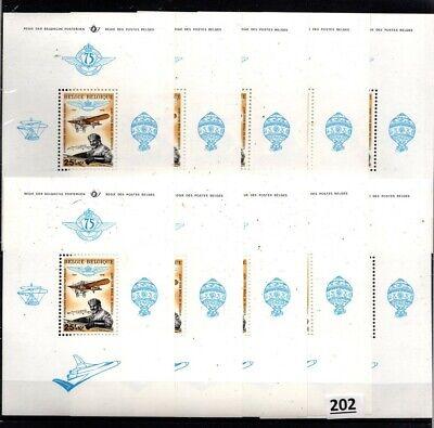 # 10X BELGIUM 1976 - MNH - PLANES, AIR BALLOON