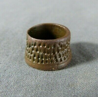 Medieval Bronze Open Top Tailor Thimble 15th century