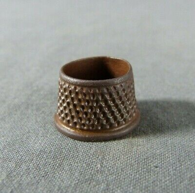 Medieval Bronze Open Top Tailor Thimble 16-17th century