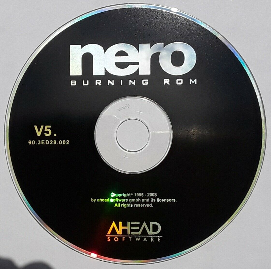 Ahead Nero V 5. Burning Software for Windows 95, 98, NT 4.0 and 2000