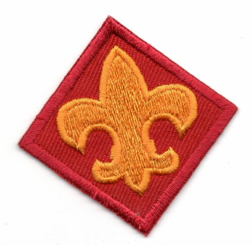 Fleur deLis flash patch Scouts BSA insignia spoof for red beret flash patch only